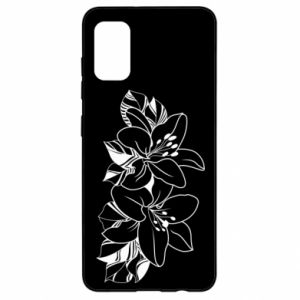 Samsung A41 Case Lilies black and white