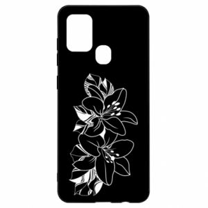 Samsung A21s Case Lilies black and white