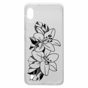 Samsung A10 Case Lilies black and white