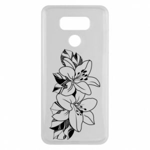LG G6 Case Lilies black and white