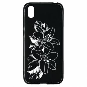 Huawei Y5 2019 Case Lilies black and white