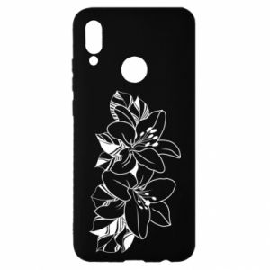 Huawei P Smart 2019 Case Lilies black and white