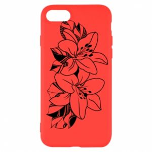 iPhone SE 2020 Case Lilies black and white