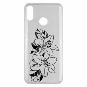 Huawei Y9 2019 Case Lilies black and white