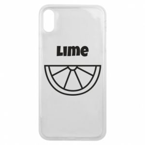 Phone case for iPhone Xs Max Lime for tequila