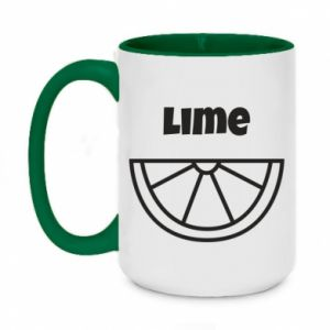 Two-toned mug 450ml Lime for tequila