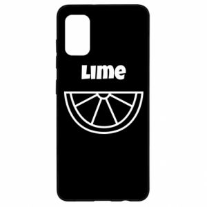 Etui na Samsung A41 Lime for tequila