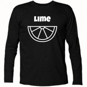 Long Sleeve T-shirt Lime for tequila