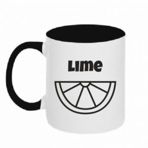 Two-toned mug Lime for tequila