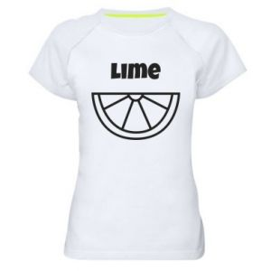 Women's sports t-shirt Lime for tequila