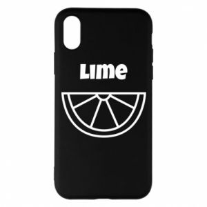 Phone case for iPhone X/Xs Lime for tequila
