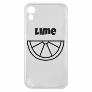 Phone case for iPhone XR Lime for tequila