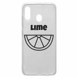 Phone case for Samsung A20 Lime for tequila
