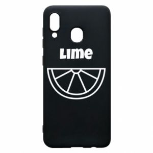 Phone case for Samsung A30 Lime for tequila