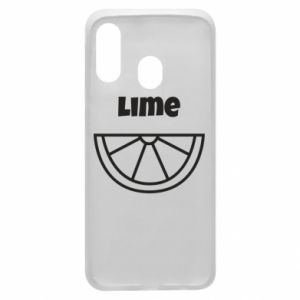 Phone case for Samsung A40 Lime for tequila
