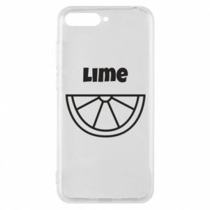Phone case for Huawei Y6 2018 Lime for tequila