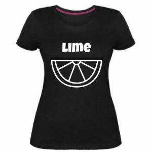 Women's premium t-shirt Lime for tequila