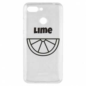 Phone case for Xiaomi Redmi 6 Lime for tequila