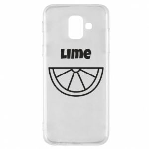 Phone case for Samsung A6 2018 Lime for tequila
