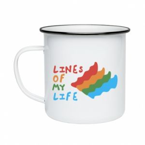 Kubek emaliowany Lines of my life