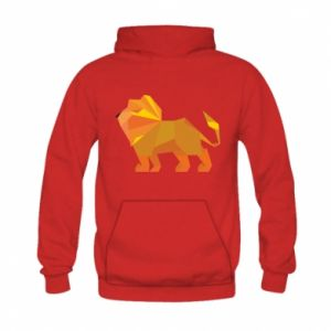Bluza z kapturem dziecięca Lion abstraction