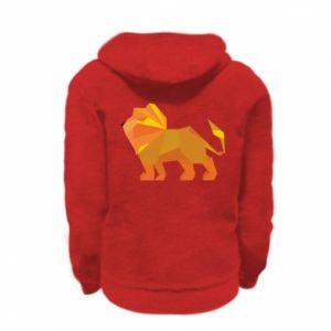 Bluza na zamek dziecięca Lion abstraction