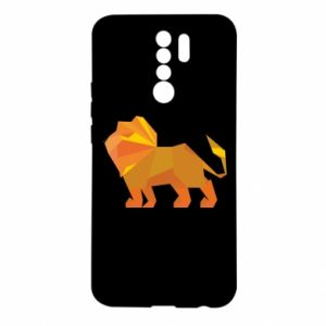 Etui na Xiaomi Redmi 9 Lion abstraction