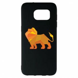 Etui na Samsung S7 EDGE Lion abstraction