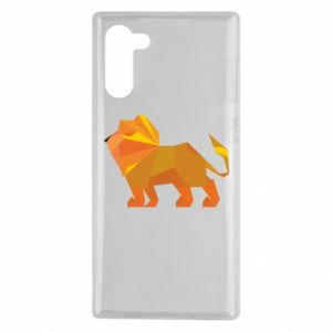 Etui na Samsung Note 10 Lion abstraction