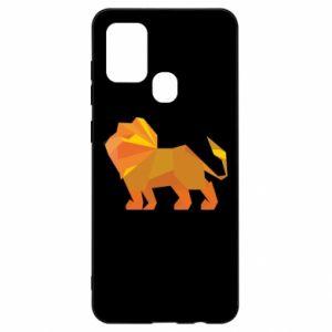 Etui na Samsung A21s Lion abstraction