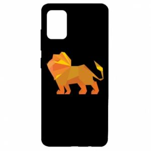 Etui na Samsung A51 Lion abstraction