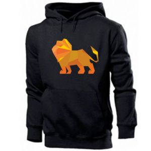 Men's hoodie Lion abstraction