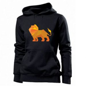 Women's hoodies Lion abstraction