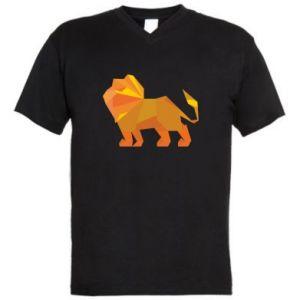 Męska koszulka V-neck Lion abstraction