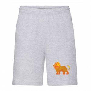 Men's shorts Lion abstraction