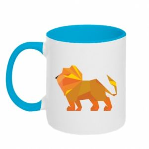 Two-toned mug Lion abstraction