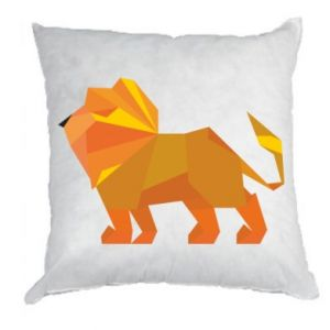 Pillow Lion abstraction