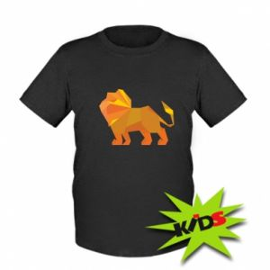 Kids T-shirt Lion abstraction