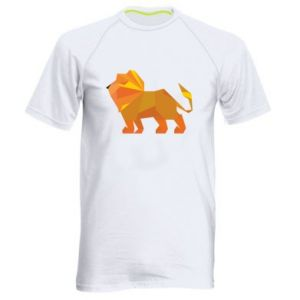 Men's sports t-shirt Lion abstraction