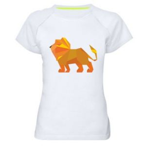 Women's sports t-shirt Lion abstraction