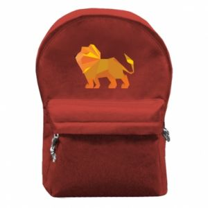Backpack with front pocket Lion abstraction - PrintSalon