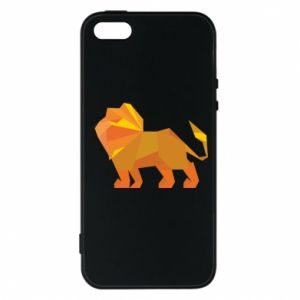 Phone case for iPhone 5/5S/SE Lion abstraction