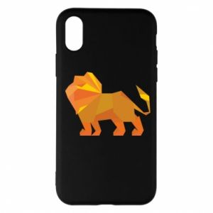 Phone case for iPhone X/Xs Lion abstraction - PrintSalon