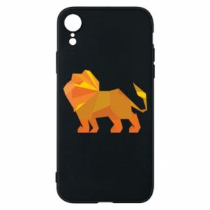 Phone case for iPhone XR Lion abstraction - PrintSalon