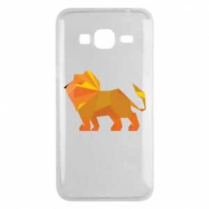 Phone case for Samsung J3 2016 Lion abstraction - PrintSalon