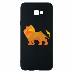 Phone case for Samsung J4 Plus 2018 Lion abstraction