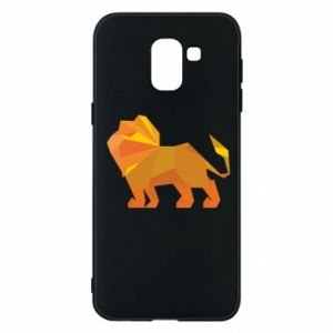 Phone case for Samsung J6 Lion abstraction - PrintSalon