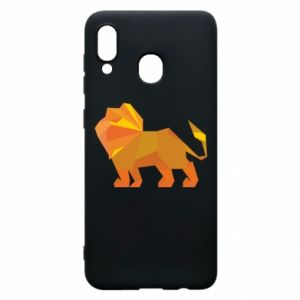 Phone case for Samsung A30 Lion abstraction - PrintSalon
