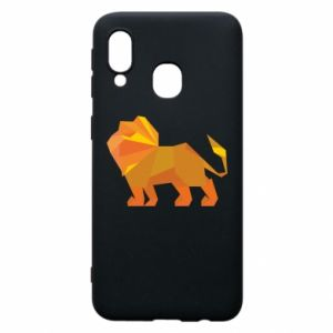 Phone case for Samsung A40 Lion abstraction - PrintSalon