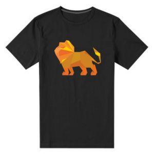 Męska premium koszulka Lion abstraction